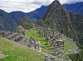 Machu picchu inca mountain city the in the peruvian andes Stock Image