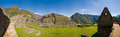Machu picchu at late noon on a bright day Royalty Free Stock Image