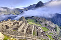 Machu picchu peru view of ancient incas town of Stock Image