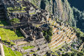 Machu picchu ruins peruvian andes cuzco peru incas in the at Royalty Free Stock Photography