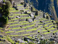 Machu Picchu terraces Stock Photos