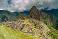Machu picchu view at ruins Stock Image