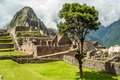 Machu picchu view at ruins Royalty Free Stock Image