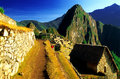 Machu Pichu Terrace Path Stock Images