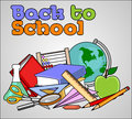 Mack to school concept an illustration of back Stock Images