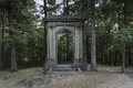 Mackenzie king estate ruins the of the located in gatineau park Stock Photos