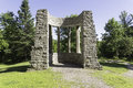 Mackenzie king estate ruins the of the located in gatineau park Stock Image