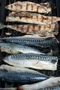 Mackerel On The Barbecue Royalty Free Stock Photo