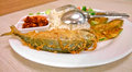Mackerel fried rice local food of thailand Royalty Free Stock Image