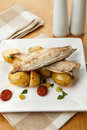 Mackerel meal Stock Photography