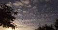 Mackerel Sky at Dusk Royalty Free Stock Photo