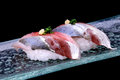 Mackerel sushi fresh Japanese style Royalty Free Stock Photo