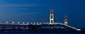 mackinaw bridge at night Royalty Free Stock Photo