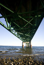 Mackinaw City Bridge Michigan Royalty Free Stock Photo
