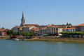 Macon City With Saone River In...