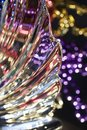 Macro Abstract Art Texture Of Beautiful Swirl Design Lead Crystal Glass Surface With Colorful Bokeh
