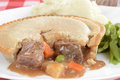 Macro beef pie Stock Photography
