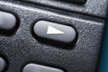 Macro Of A Black Play Button On Black Remote Control For A Hifi Stereo Audio System Royalty Free Stock Photo