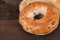 Macro blueberry bagels Royalty Free Stock Photo