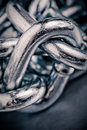 Macro chain link Royalty Free Stock Photography