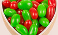Macro of Christmas Jellybeans Stock Image