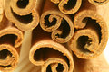 Macro - cinnamon sticks Royalty Free Stock Photo