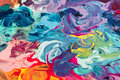 Macro close up of different color oil paint. colorful acrylic. modern art concept. Royalty Free Stock Photo