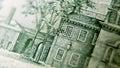 Macro close up of the US 100 dollar bill Royalty Free Stock Photo