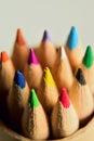 Macro Closeup Colorful Pencils Vertical frame Royalty Free Stock Photo