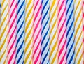 Macro closeup of decorative colored candles Royalty Free Stock Photo