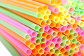 Macro of cocktail straws Stock Photos