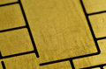 Macro detail of debet card chip golden Royalty Free Stock Photos