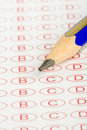 Macro Education test form Royalty Free Stock Images