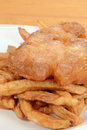 Macro fish and chips shallow DOF Royalty Free Stock Photos