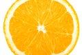 Macro food collection orange slice isolated on white background Royalty Free Stock Images
