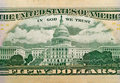 Macro groupe des USA $50 Bill Image stock