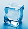 Macro of ice cube Royalty Free Stock Photo