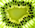 Macro Kiwi Fruit Center