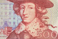 A macro look of swedish kronor of face value Stock Photography