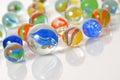 Macro marble balls Royalty Free Stock Photo