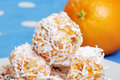 Macro Of Orange Snowball Cookies Royalty Free Stock Images