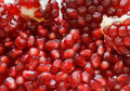 Macro of peeled ripe seeds pomegranate Stock Photo