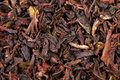 Macro photo of black tea leaves Royalty Free Stock Photos