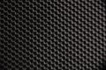 Macro photograph of a black nylon fabric detail texture and pattern Stock Images
