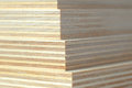 Macro plywood boards stacked Royalty Free Stock Photo