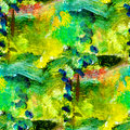 Macro seamless texture africa green oil painting Royalty Free Stock Photo