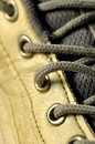 Macro shoelace Stock Photo