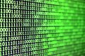 Macro Shot Of Binary Code On T...