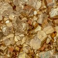 Macro shot of golden color pyrite cubes Royalty Free Stock Photo