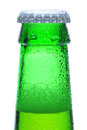 Macro Shot of Green Beer Bottle Neck Royalty Free Stock Photo